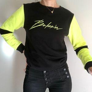 Balmain sweater  sweatshirt logo top  black